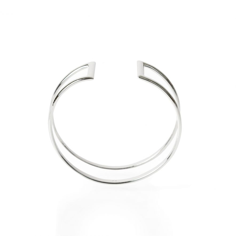 Armband Cuff wire silver