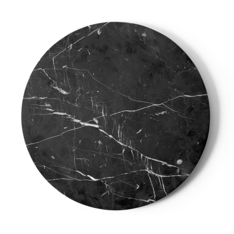 Bordsskiva Androgyne svart marmor