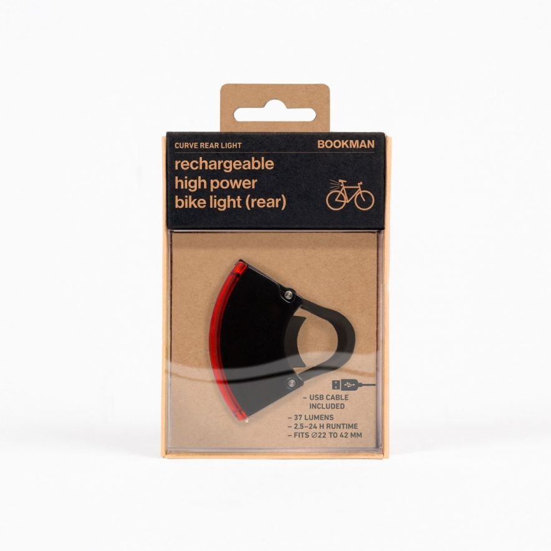 Cykellyse Curve Light Back Svart