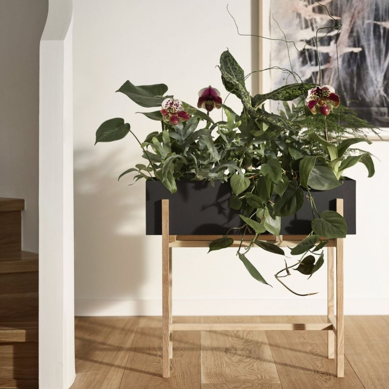 Botanic Flower Stand svart