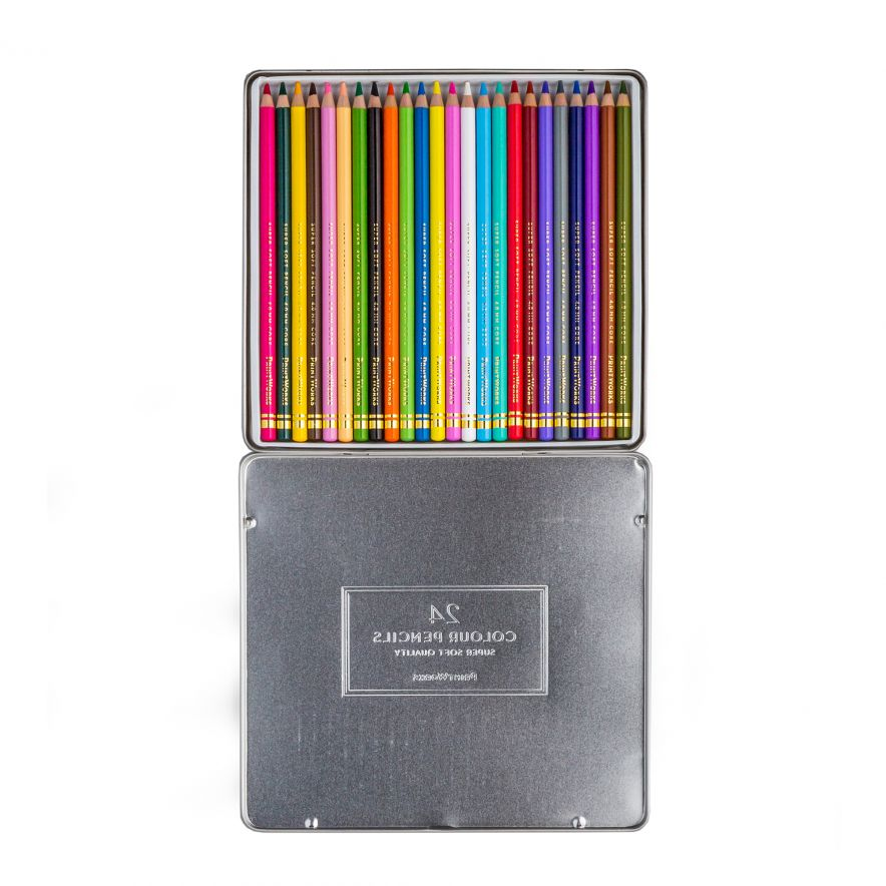 Färgpennor i ask 24-p