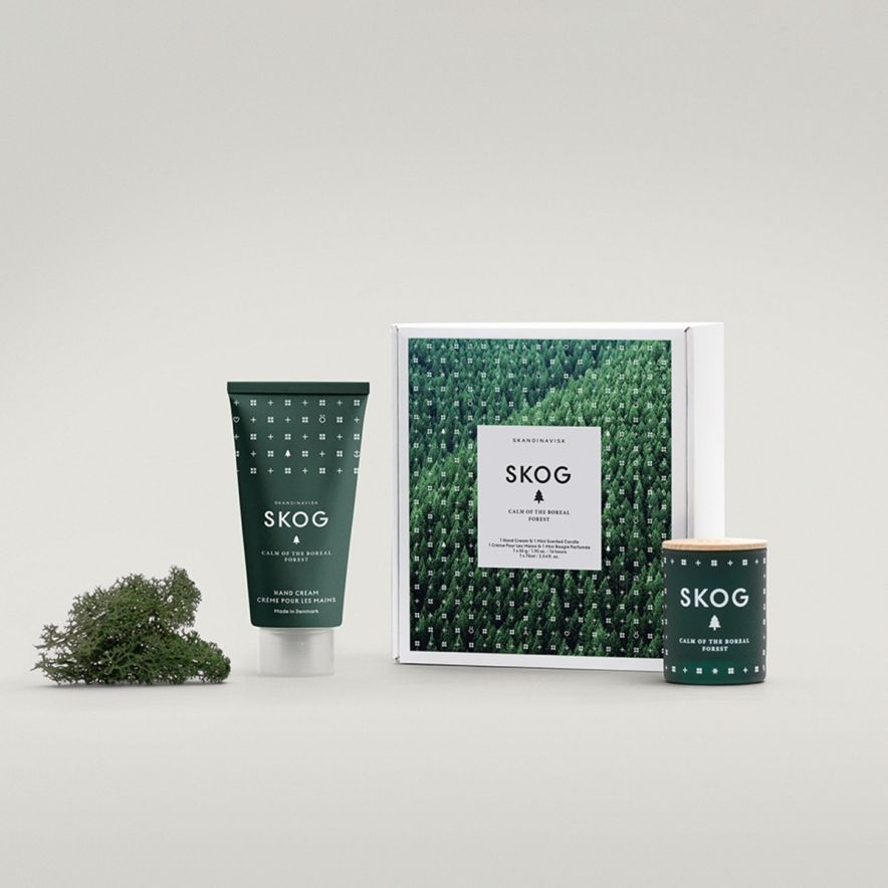 Handcreme & Doftljus Mini SKOG kit