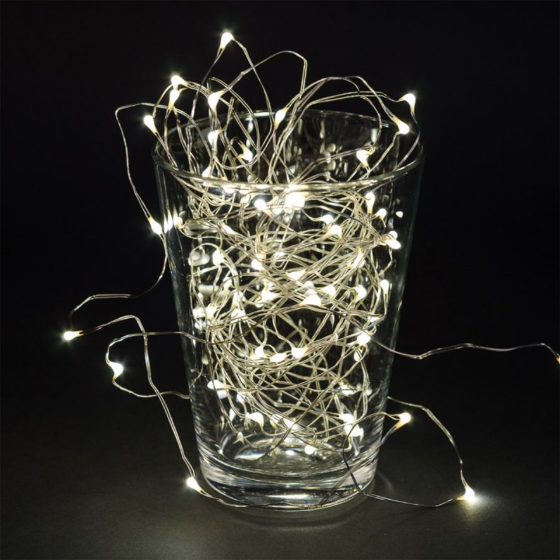 Ljusslinga silver LED