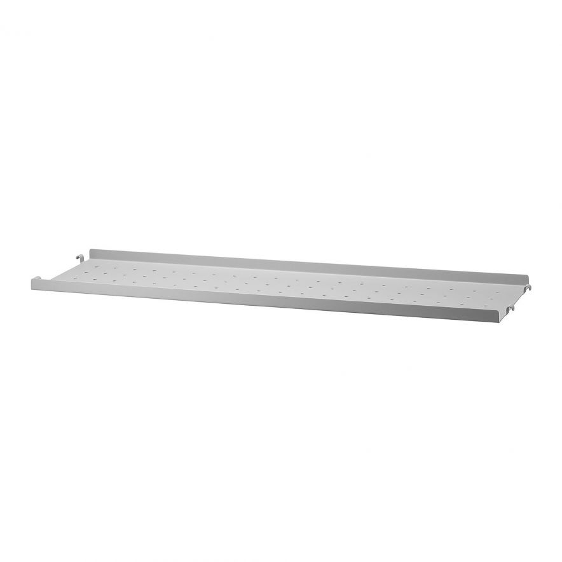 Metallhyllplan Låg 78x20 grå