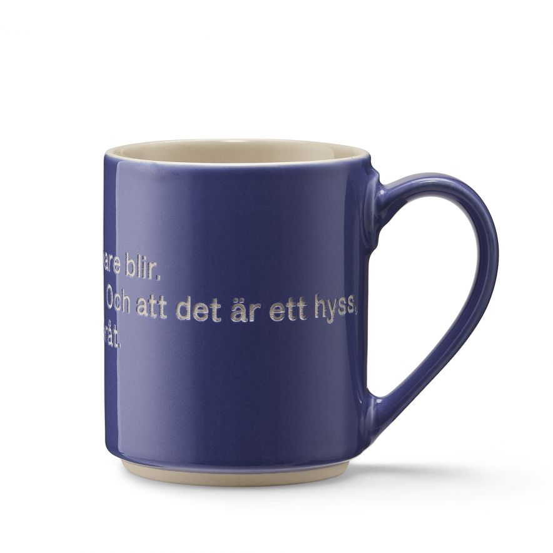 Mugg Astrid Hyss blå
