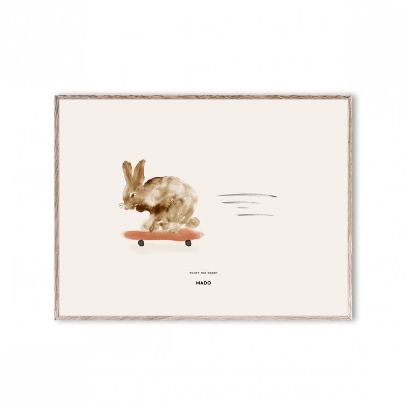 Poster Rocky the Rabbit 30x40 cm