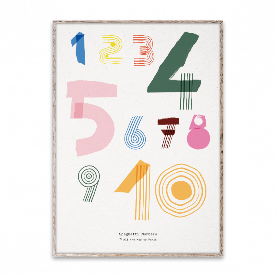 Poster Spaghetti Numbers 50x70 cm