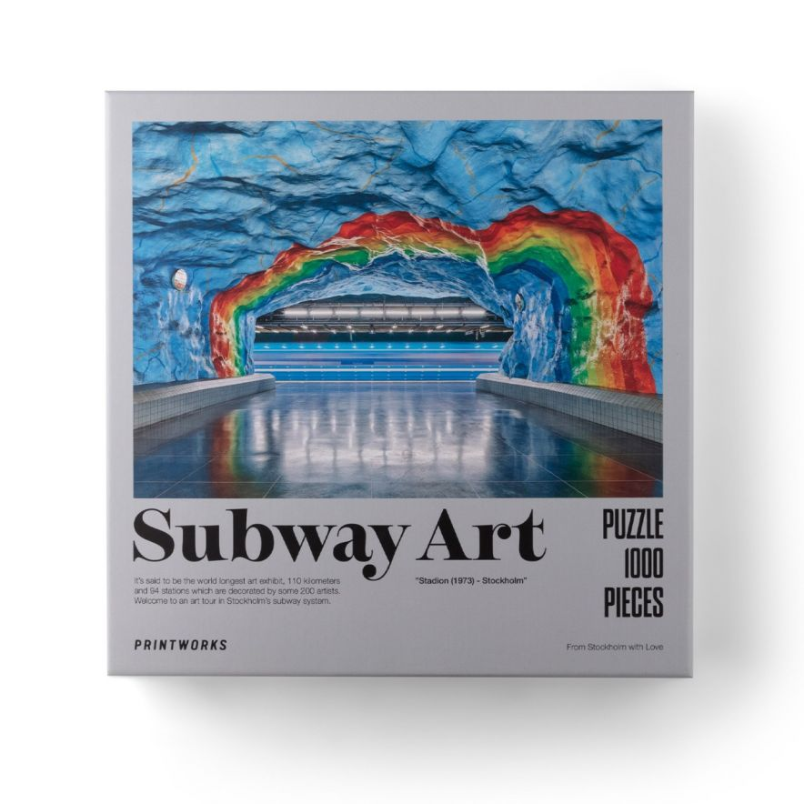 Pussel Subway Art Rainbow