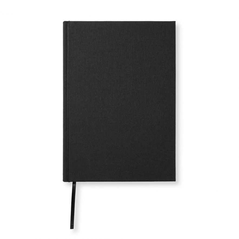 Skrivbok A5 Textil svart