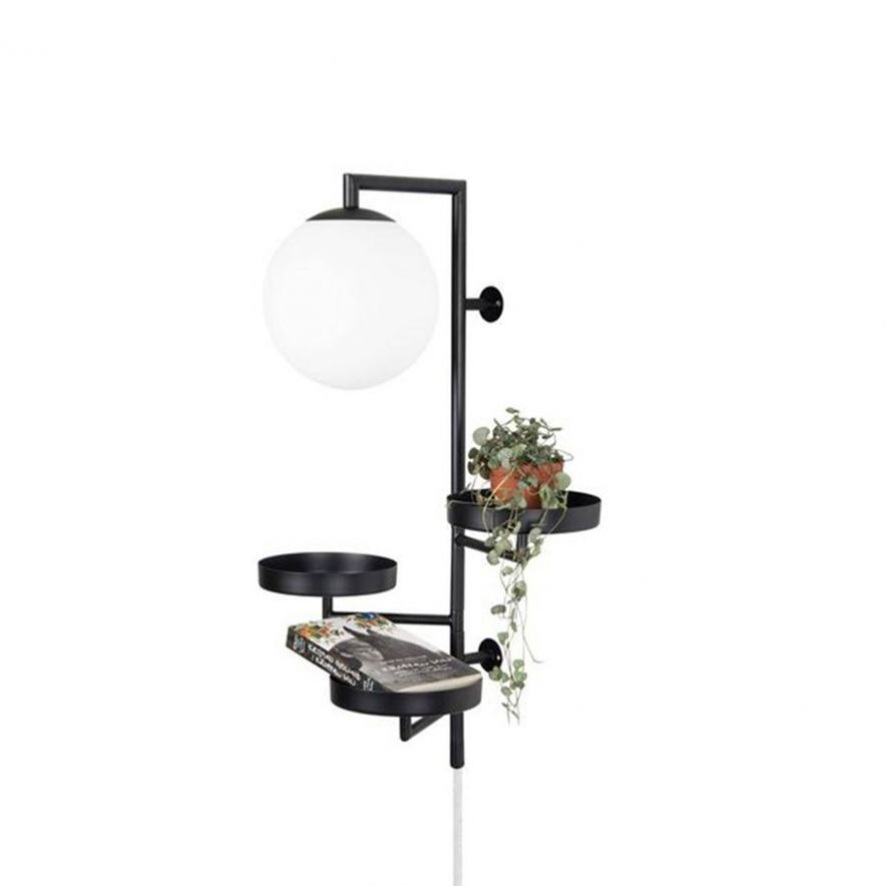 Vägglampa Astoria svart