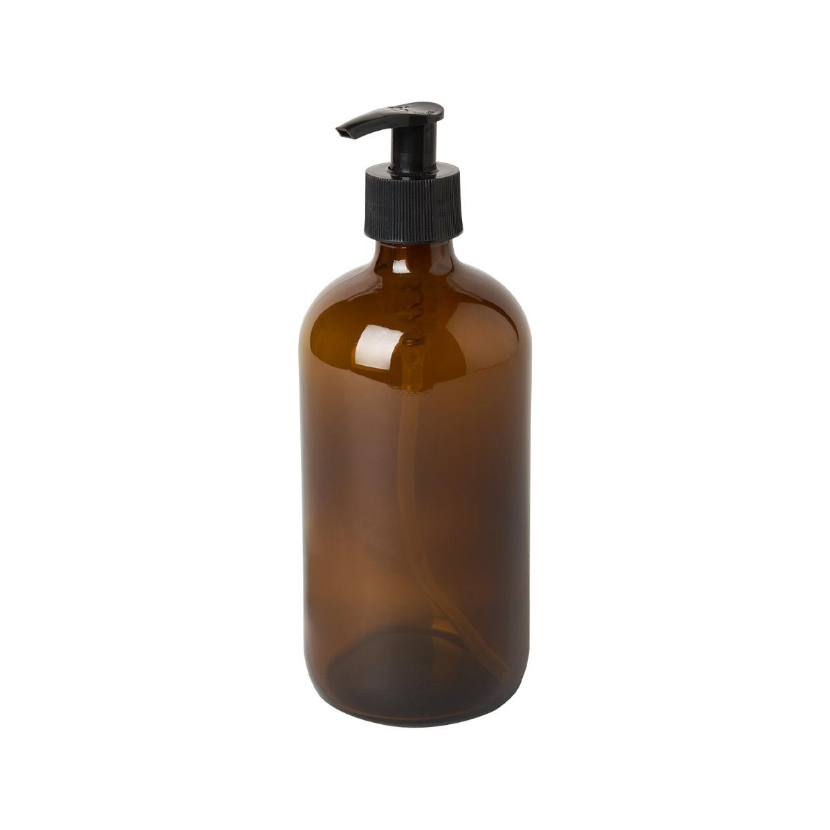 Designtorget Glasflaska med pump DT Brun