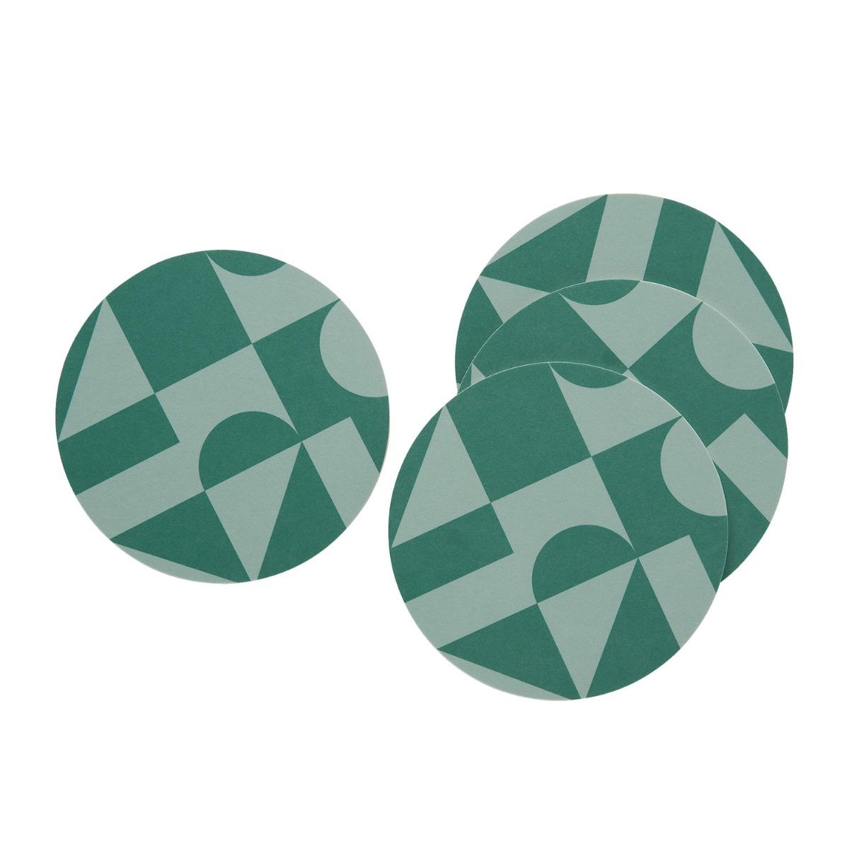 Designtorget Glasunderlägg 4-p Grön