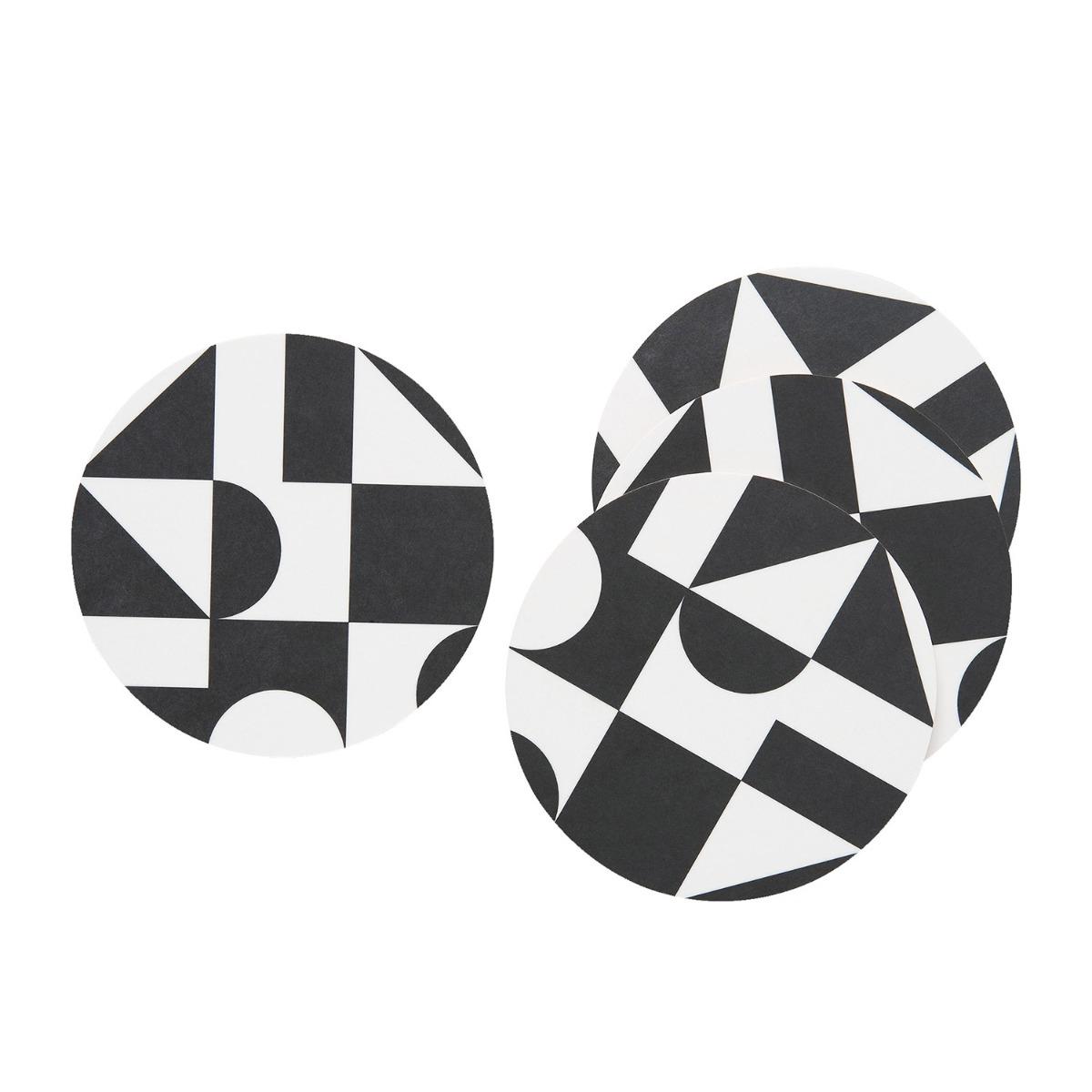 Designtorget Glasunderlägg DT 4-p Svart