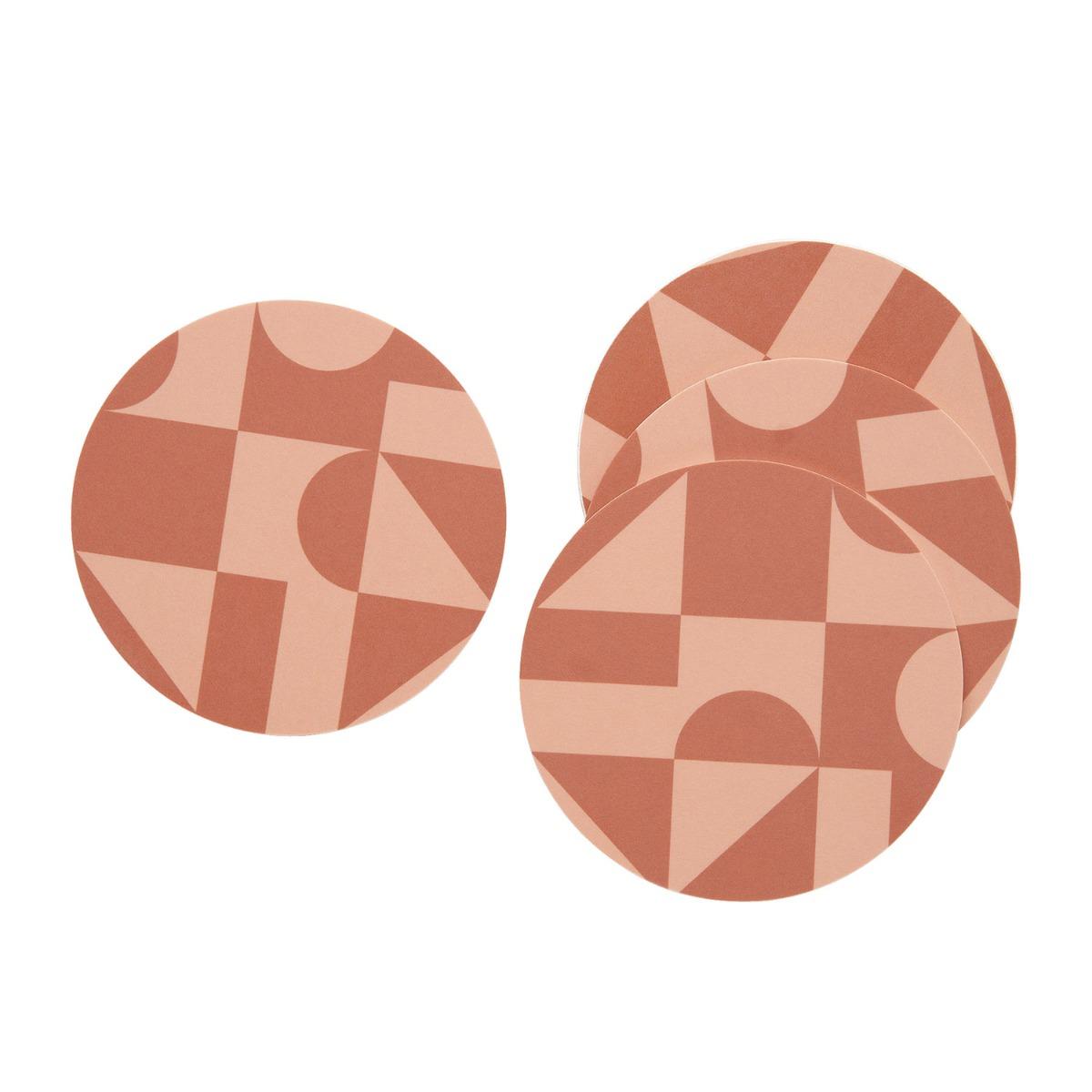 Designtorget Glasunderlägg 4-p Terracotta