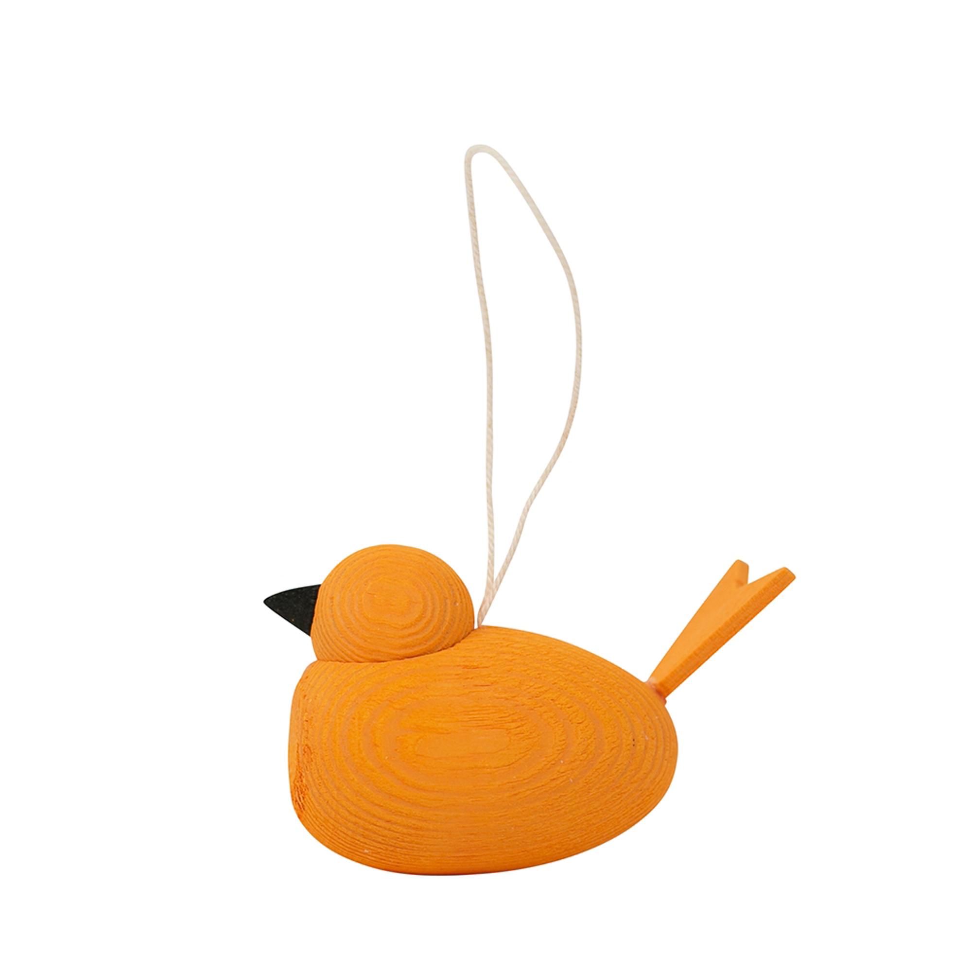 Designtorget Hänge Fågel m Snöre Orange
