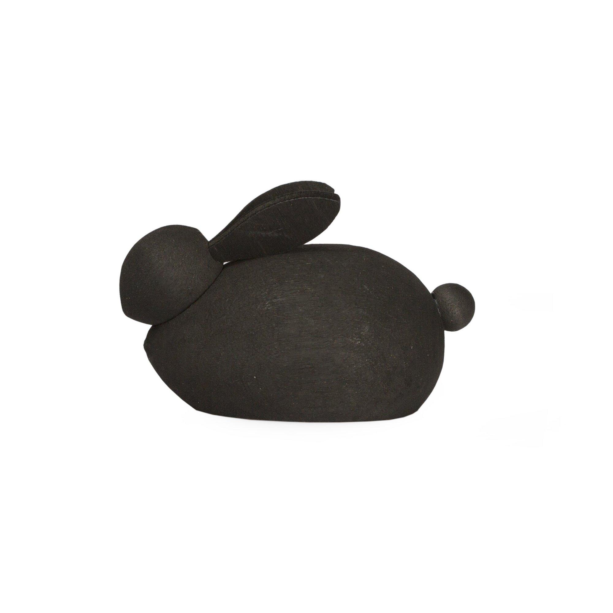 Designtorget Hare Trä svart