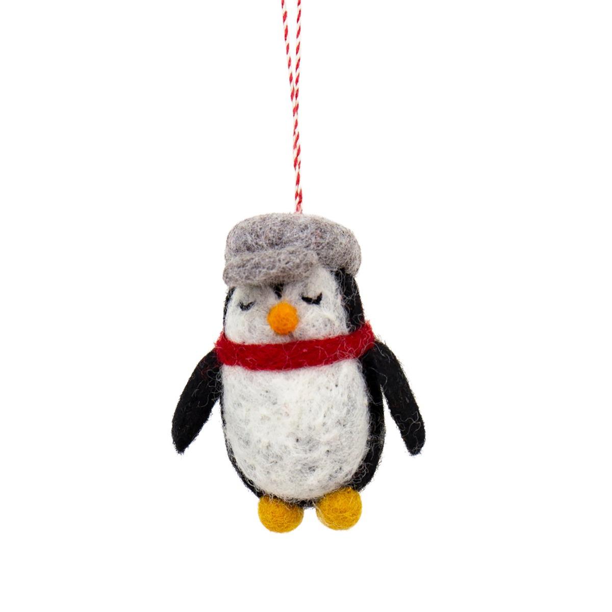 Designtorget Julhänge Pingvin med keps