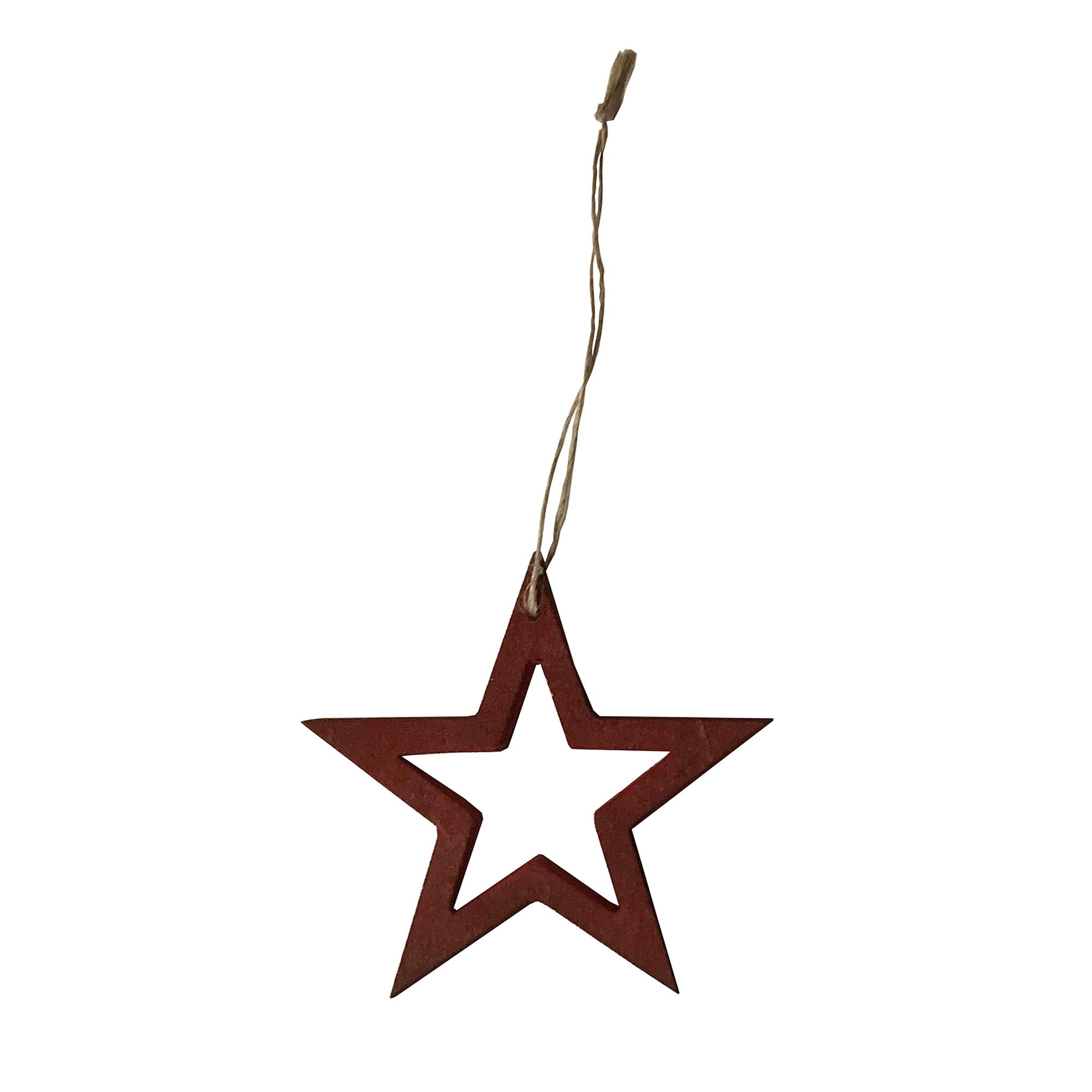 Designtorget Julhänge stjärna L röd