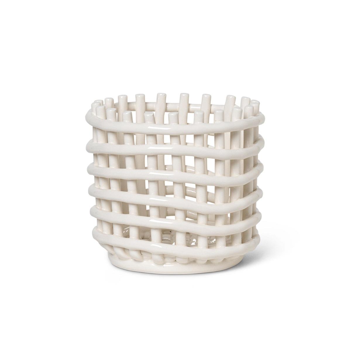 Designtorget Korg i Keramik Off White