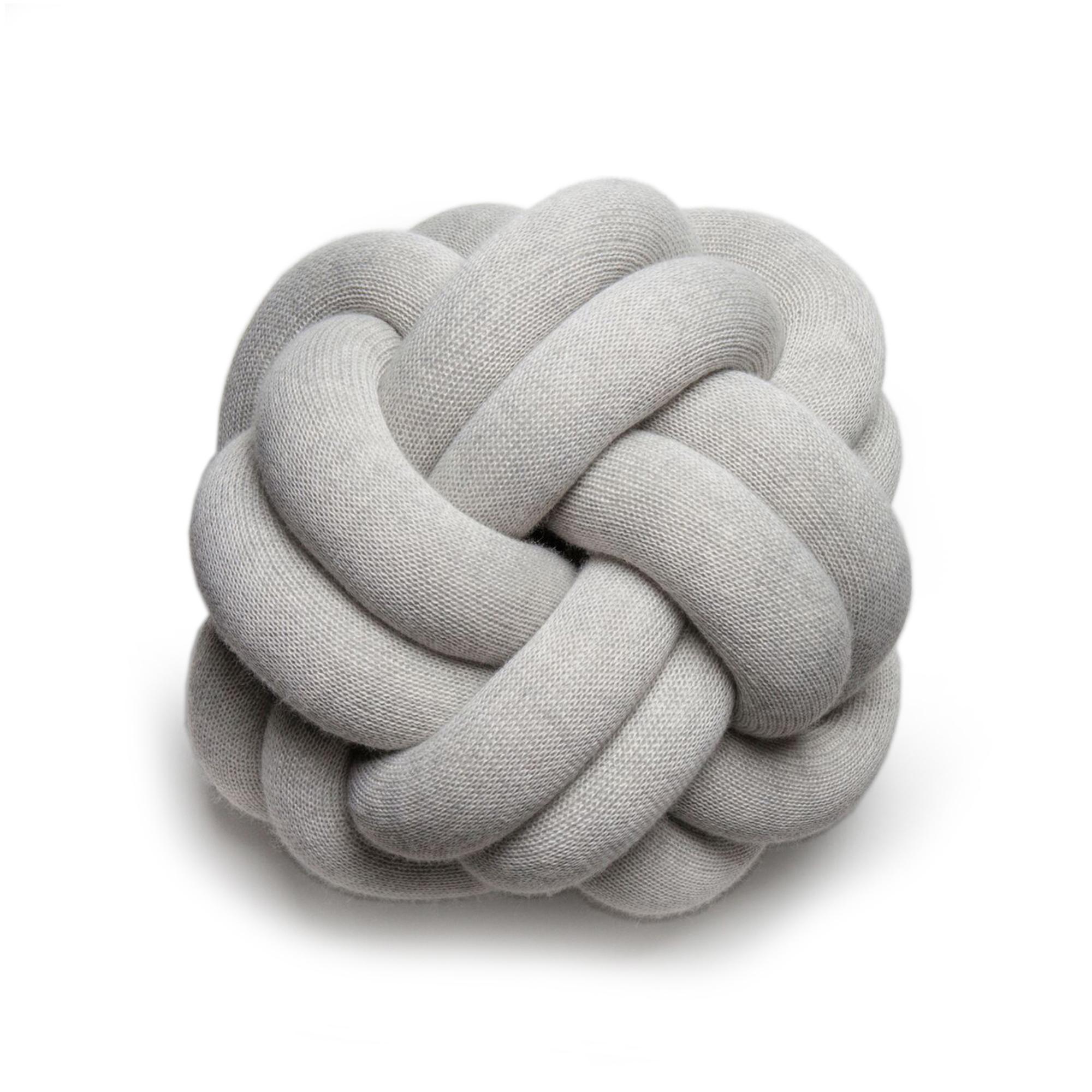Designtorget Kudde Knot ljusgrå