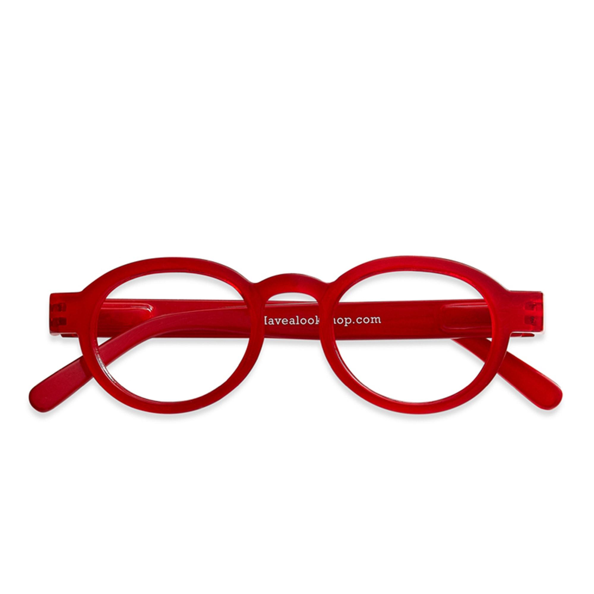 Designtorget Läsg Circle Twist red +2