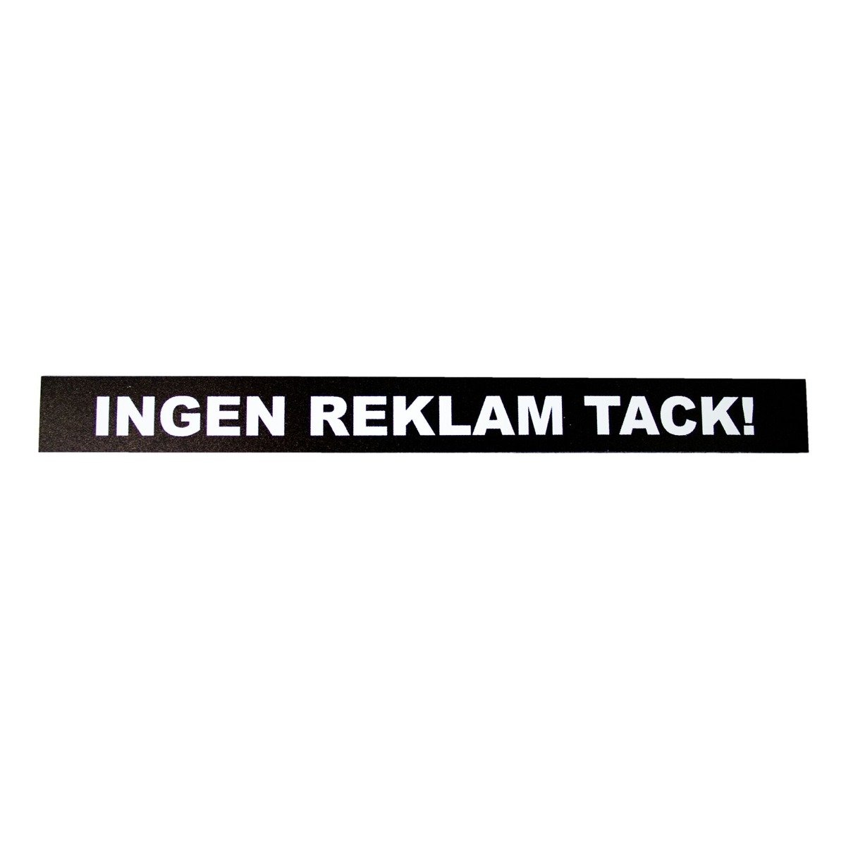 Designtorget MagnetskyltIngenreklamtack!