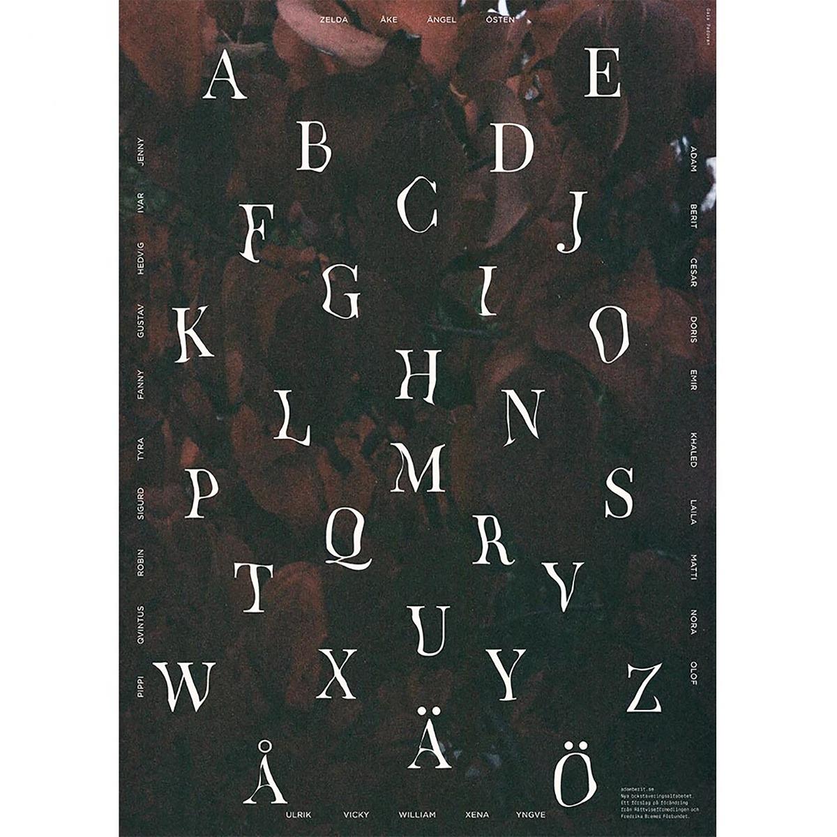Designtorget Poster Bokstaveringsalfab. 7 Gaia