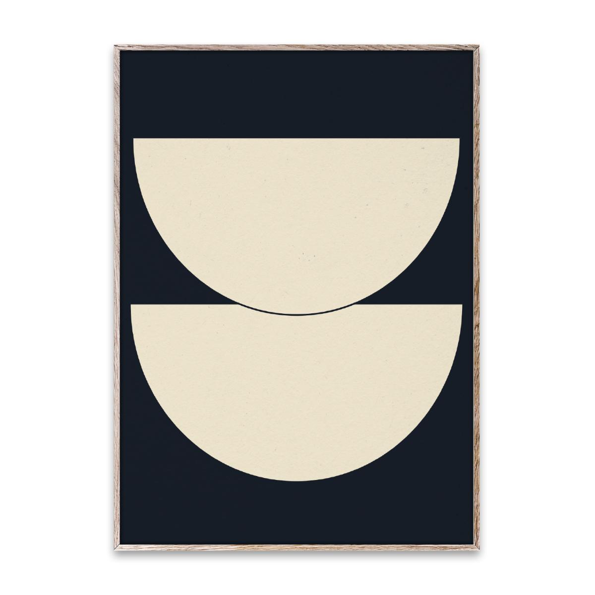Designtorget Poster Half Circles I - Blue 50x70 cm