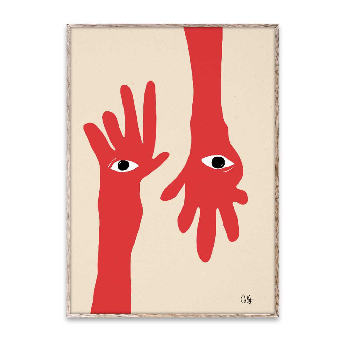 Designtorget Poster Hamsa Hands 30x40 cm