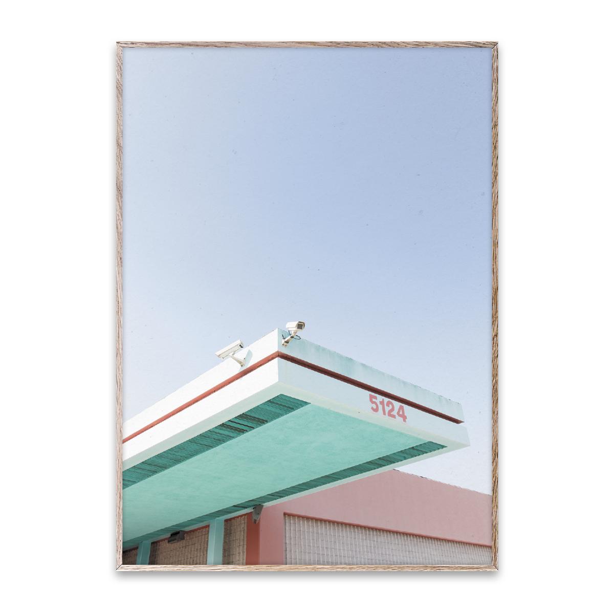 Designtorget Poster Los Angeles is Pink 30x40 cm
