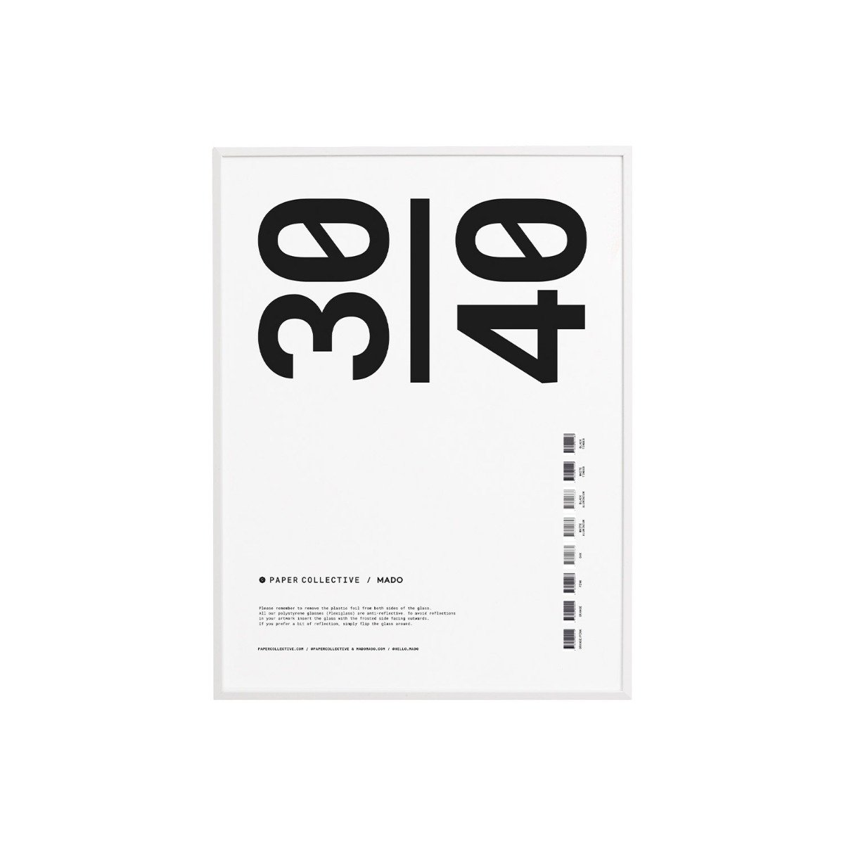 Designtorget Ram Trä Plexi Vit 30x40 cm