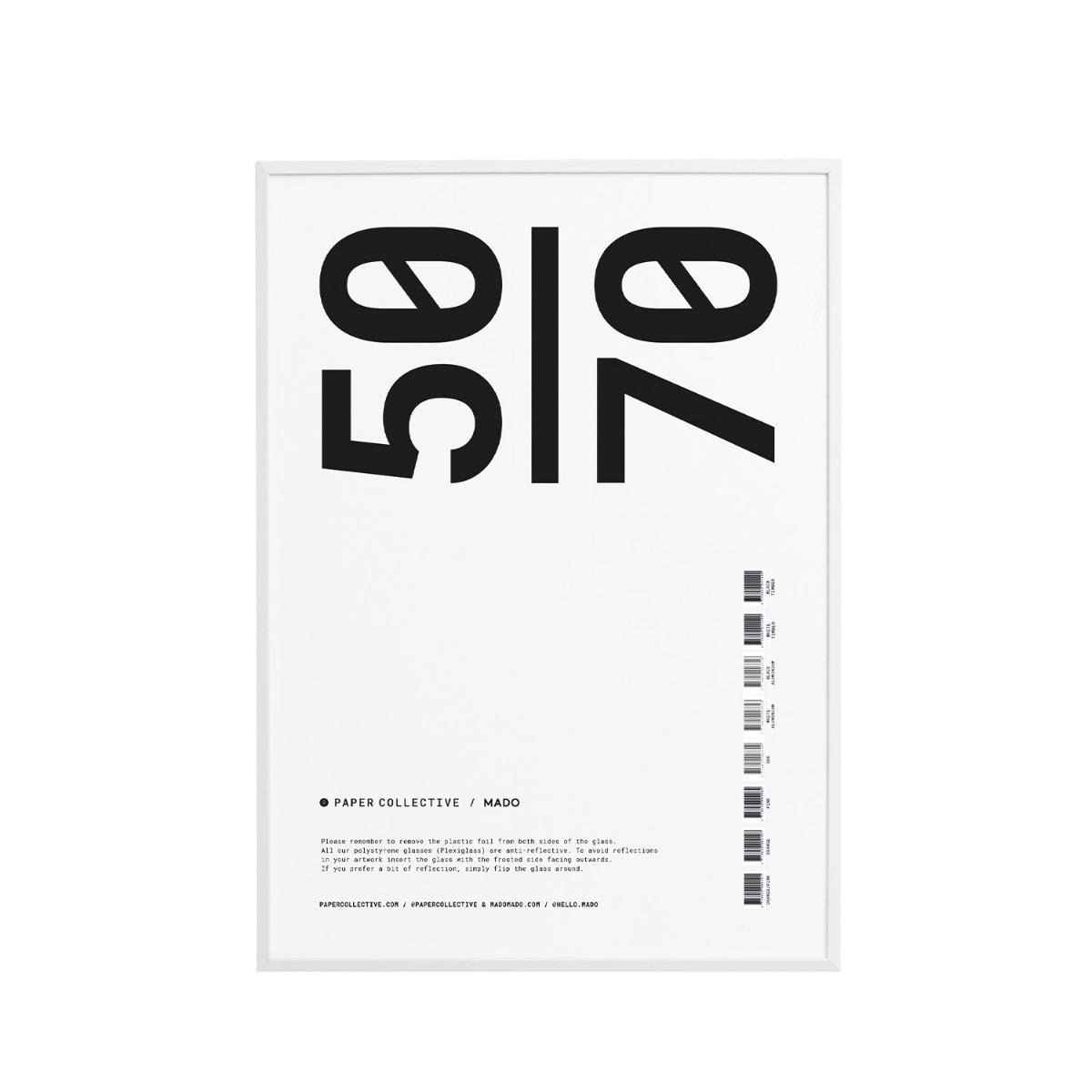 Designtorget Ram Trä Plexi Vit 50x70 cm