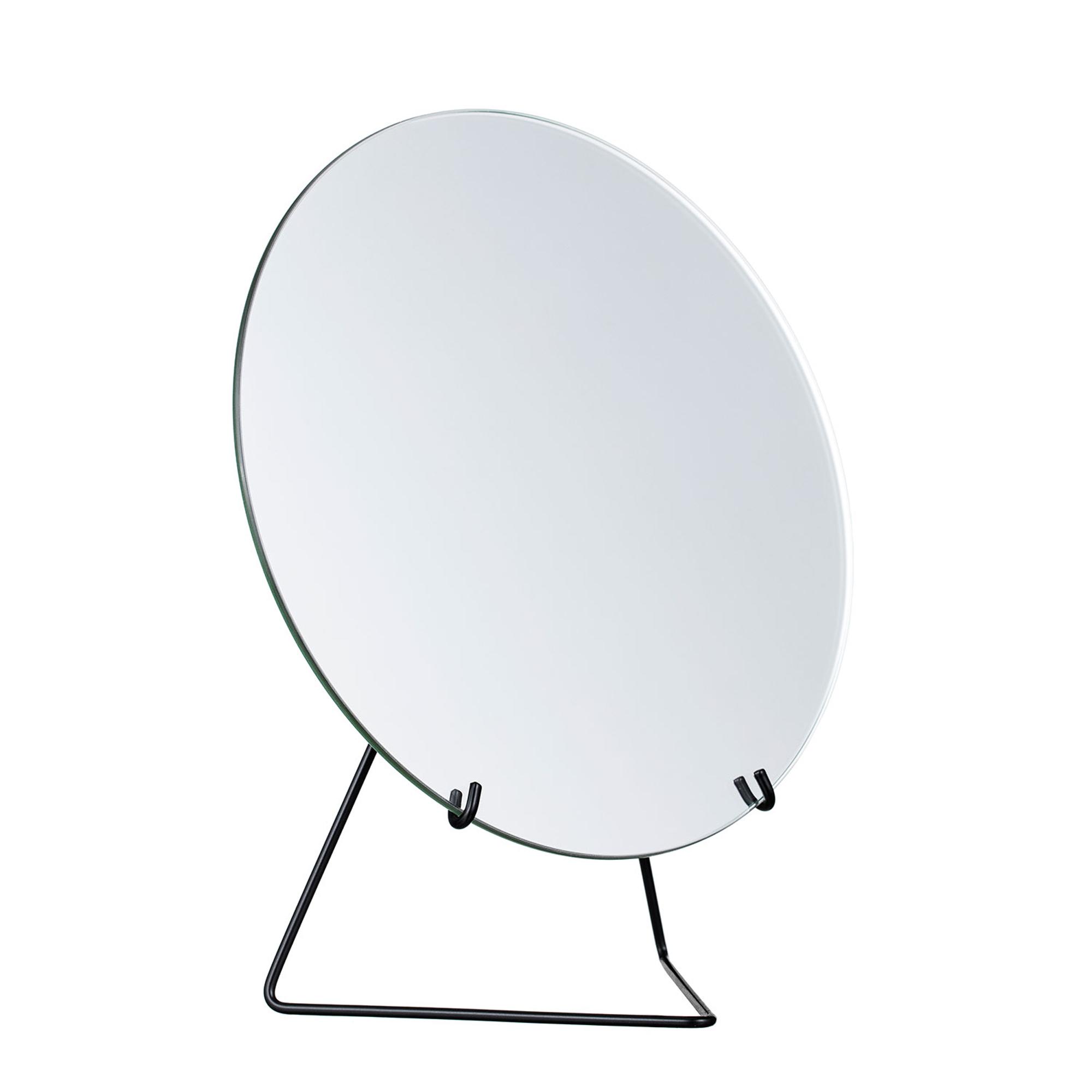 Designtorget Spegel på fot 30 cm svart