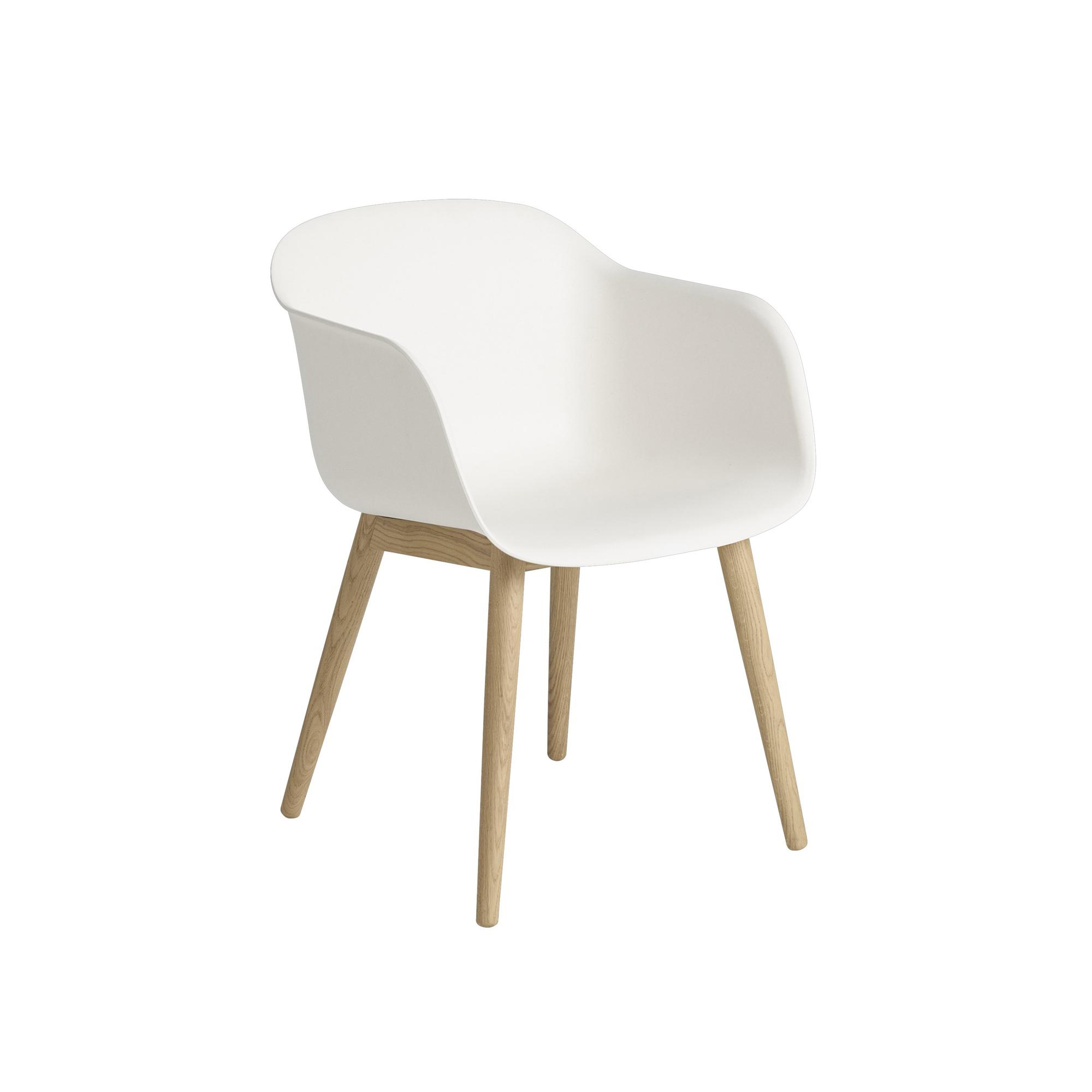 Designtorget Stol Fiber wood vit/ek