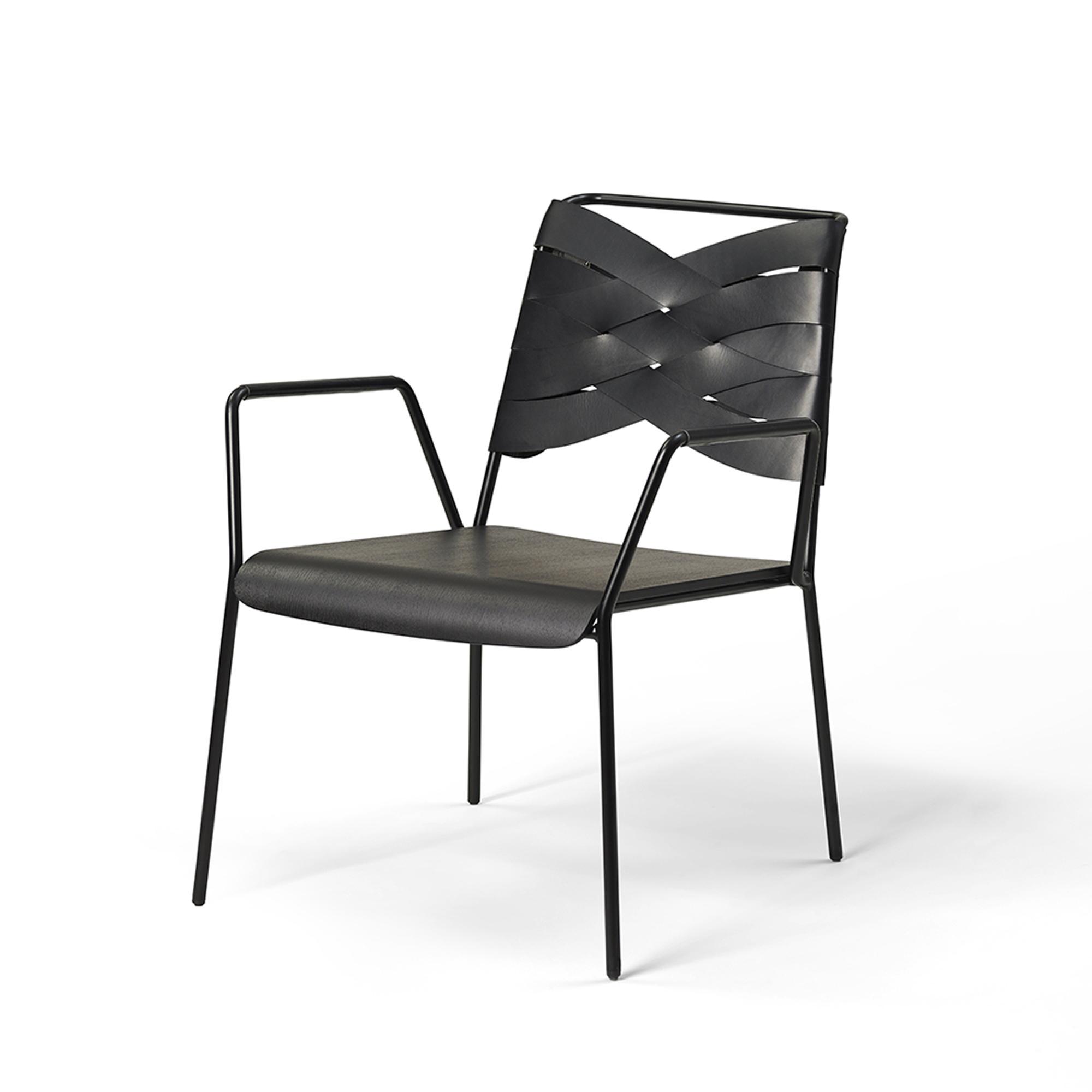 Designtorget Stol Torso Lounge black/black